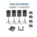 Pack de Sonido 1200W + Micros