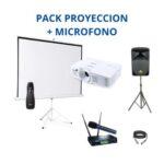 Pack Proyector + Pantalla + Micro
