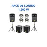 Pack Sonido 1.200W (Autoamplificado)