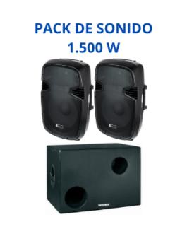 Equipo de Sonido 1.500W (Etapas de potencia)